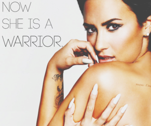 demi lovato, strong, and warrior image
