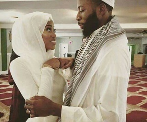 black, muslim, and couple image