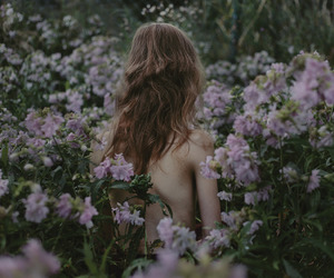 flower, girl, and indie image