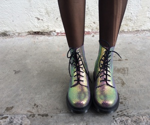 doc martens, fashion, and holographic image