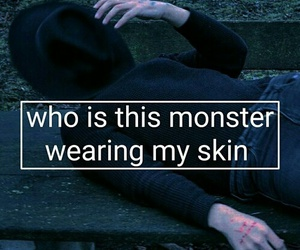 grunge, monster, and quote image