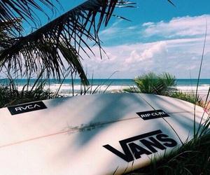 beach, summer, and vans image