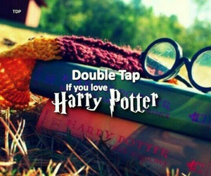 harry potter, double tap, and love image