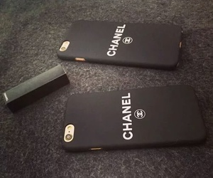 chanel, black, and iphone image