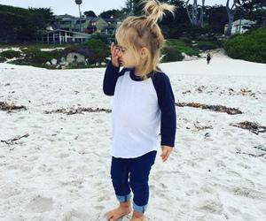 beach, little girl, and cute image