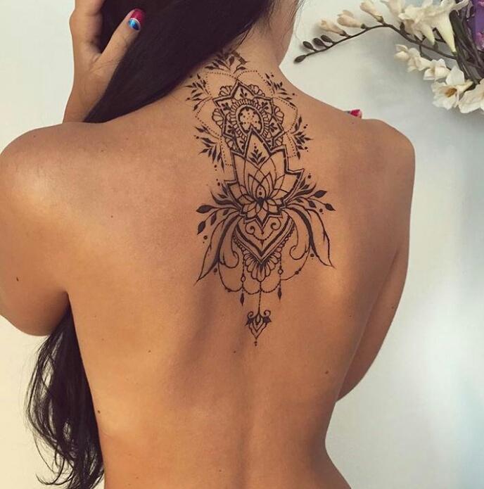 back, mandala, and ink image