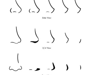 draw, drawing, and nose image