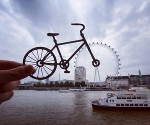 photography, london, and bike image