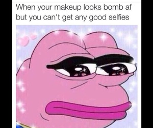 funny, makeup, and selfie image