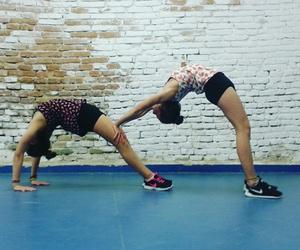 happy, training, and yoga image