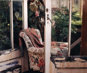 vintage, chair, and plants image