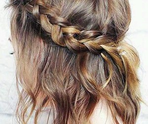 hair, plait, and hairstyle image