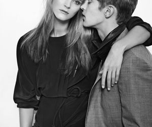 black and white, mathias lauridsen, and Carmen Kass image