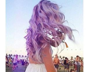 hair, purple, and beauty image