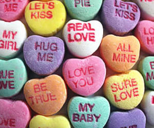 candy, Valentine's Day, and hearts image