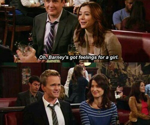 how i met your mother, Barney Stinson, and feelings image