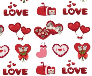 hearts, pattern, and wallpapers image