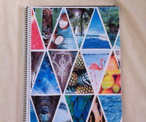 notebook, beach, and diy image