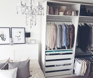bedroom, closet, and home decor image