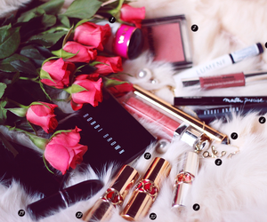 makeup, rose, and beauty image