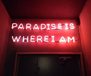red, paradise, and neon image