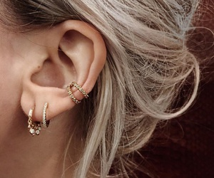 accessories, blonde, and earrings image