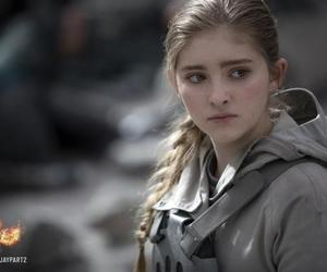 the hunger games, prim, and mockingjay image