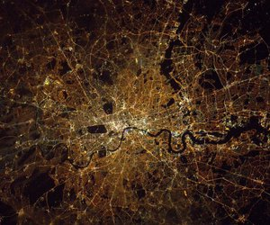 international space station, london, and view image
