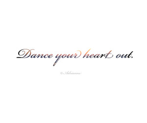 dance, heart, and out image