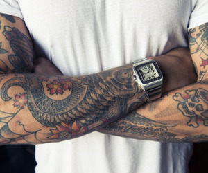 tattoo, ink, and man image