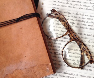 books, glasses, and grunge image