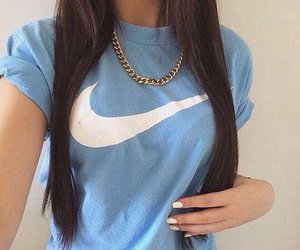 nike, blue, and style image