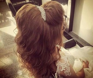 hairstyle, wedding, and bride image