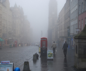 london, rain, and fog image