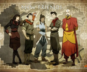 avatar, new friends, and korra image
