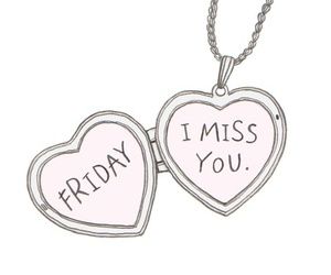 friday, heart, and miss you image