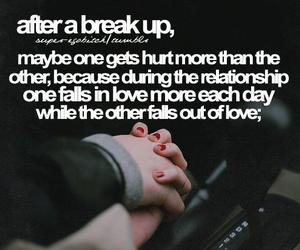 love, break up, and hurt image