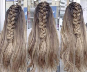 style, blonde, and braid image