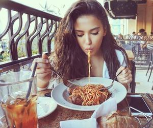 girl and spaghetti image