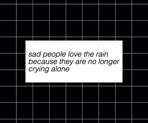 sad, rain, and quotes image