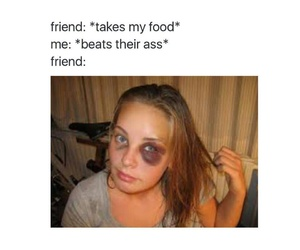 food, friend, and funny image
