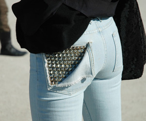 jeans, fashion, and studs image
