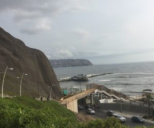 beach, lima, and mountain image
