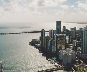 city, landscape, and Miami image