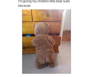 cute, baby, and bear image