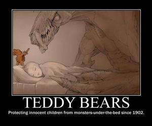 teddy bear, monster, and teddy image