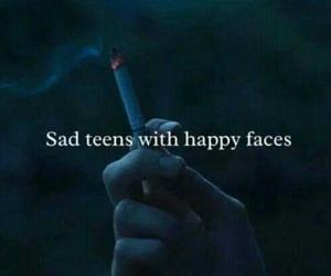 sad, teens, and smoke image