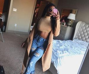 dark skin, fashion, and style image