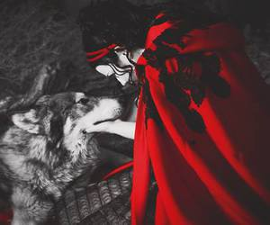 amy lee, wolf, and evanescence image