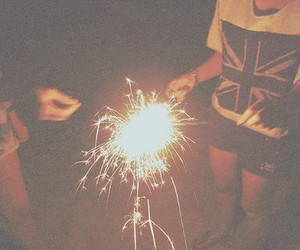girl, fireworks, and photography image
